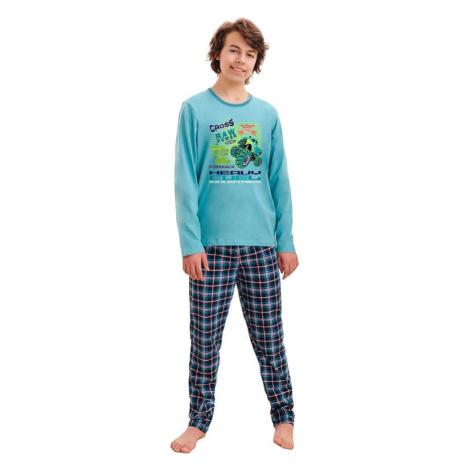 Chlapecké pyžamo Leo cross modré Taro
