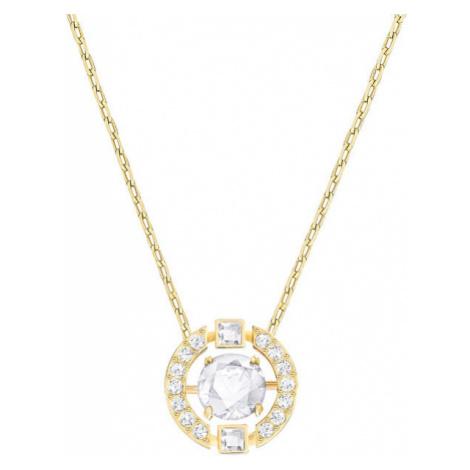 Swarovski Pozlacený náhrdelník Sparkling Dance