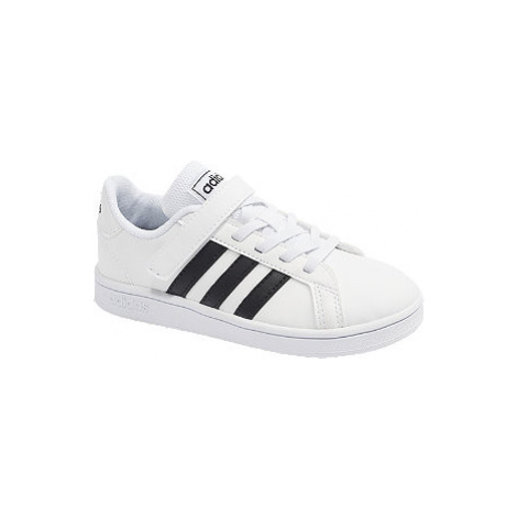 Bílé tenisky na suchý zip Adidas Grand Court C