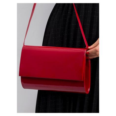 Lakovaná tmavě červená kabelka spojky ONE SIZE FPrice