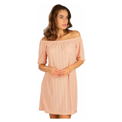 LITEX Šaty dámské s krátkým rukávem 5B112330 starorůžová