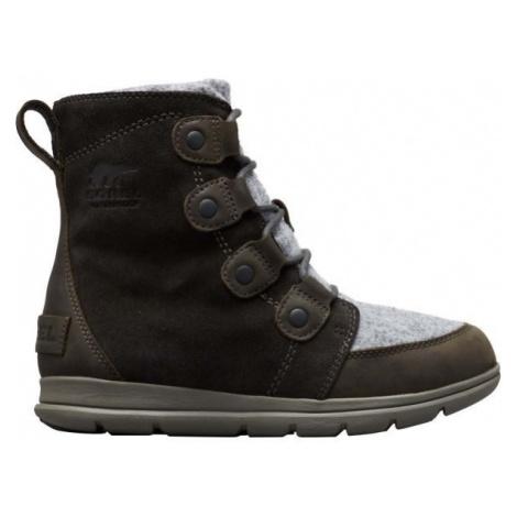 Sorel EXPLORER JOAN tmavě šedá - Dámská zimní obuv