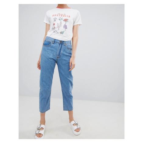 Ryder Vintage Mom Fit Jeans-Blue