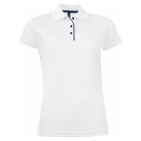 SOĽS Dámské funkční polo triko PERFORMER WOMEN 01179102 Bílá SOL'S