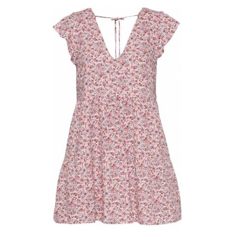 Abercrombie & Fitch Letní šaty červená / bílá / tmavě modrá / růžová