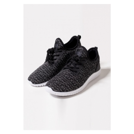Urban Classics Knitted Light Runner Shoe black/grey/white