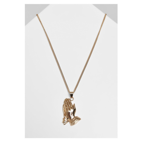 Pray Hands Necklace - gold Urban Classics