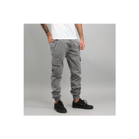 Urban Classics Washed Cargo Twill Jogging Pants šedé