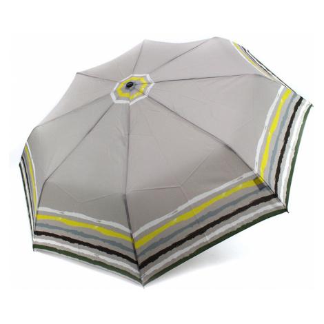 Šedý plně automatický skládací dámský deštník s pruhy Jimena Doppler