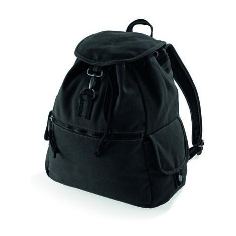 Retro turistický batoh - černá