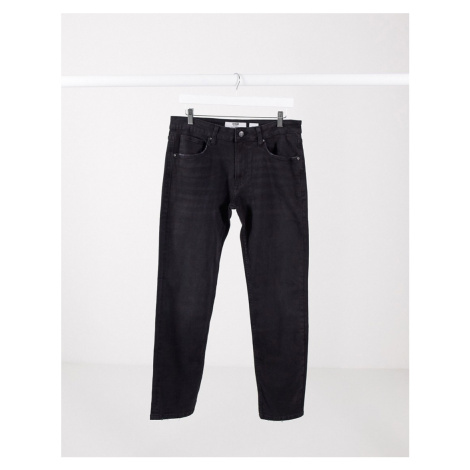 Bershka skinny fit jeans in black