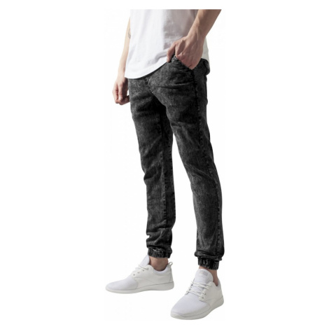 Stretch Denim Jogging Pants - acid black Urban Classics