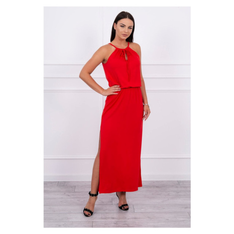 Boho dress with fly red Kesi