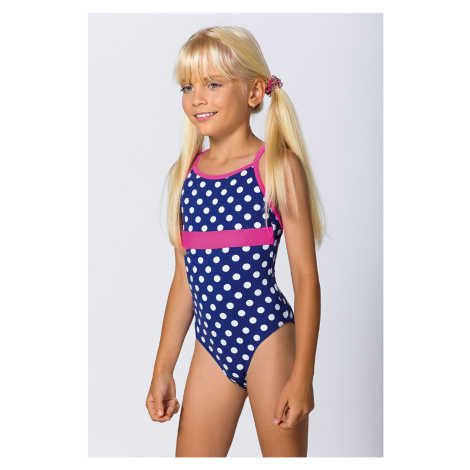 Dívčí jednodílné plavky Dots Lorin