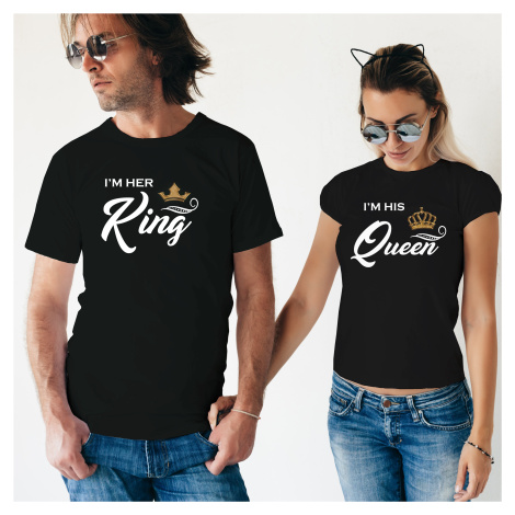 Párová trika Her King a His Queen -  skvělý dárek nejen k Valentýnu BezvaTriko