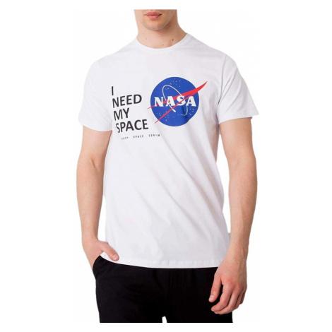 Bílé pánské tričko nasa