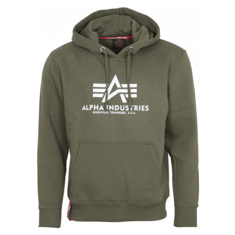 Alpha Industries Mikina Basic Hoody zelená tmavě