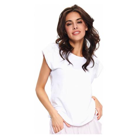 Bílé bavlněné pyžamové tričko SHI9754