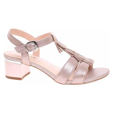 Dámská společenská obuv Caprice sandály 9-28209-24 taupe metallic
