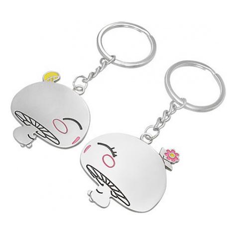Přívěsky na klíče pro dvojici - zamilované houbičky Šperky eshop