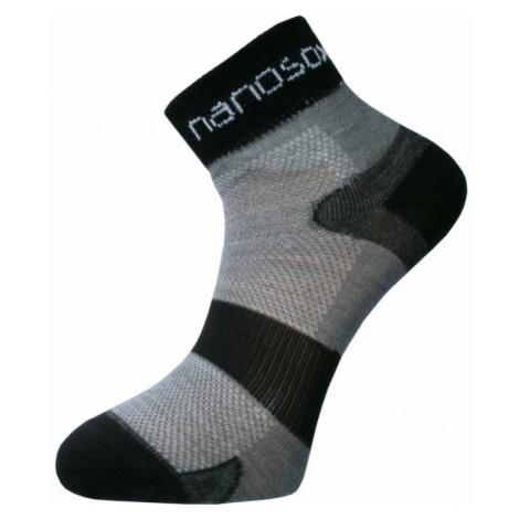 NanoSox® AG-TIVE CYKLON ponožky černo-šedé Černá 49-50