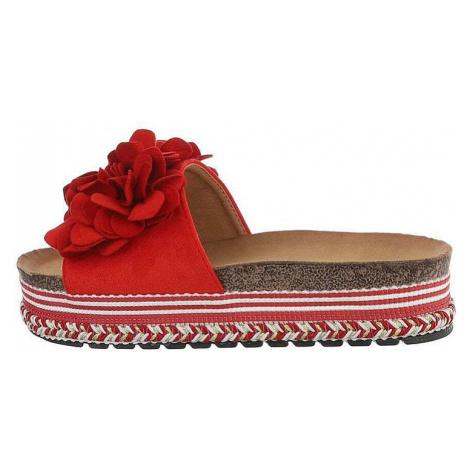 Dámské červené pantofle