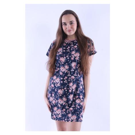 Dámská košilka Zuzi 5 modrá s květy Nelly