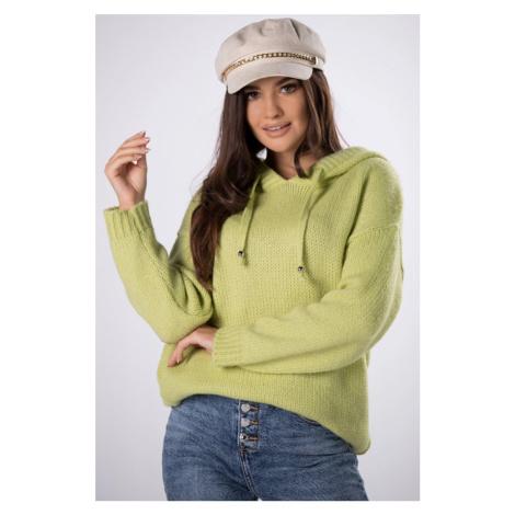 Světle zelený pulovr s kapucí Luella II Vittoria Ventini