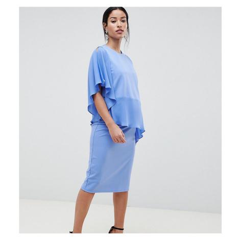 ASOS DESIGN Maternity Nursing one shoulder double layer dress - Blue