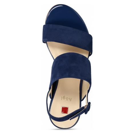 Dámské kožené modré páskové sandály Högl