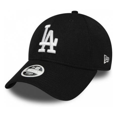 New Era 9FORTY W MLB RIBBED JERSEY LOS ANGELES DODGERS černá - Dámská klubová kšiltovka