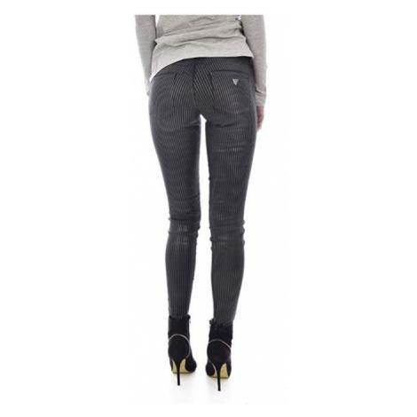Guess GUESS dámské černé pruhované kalhoty