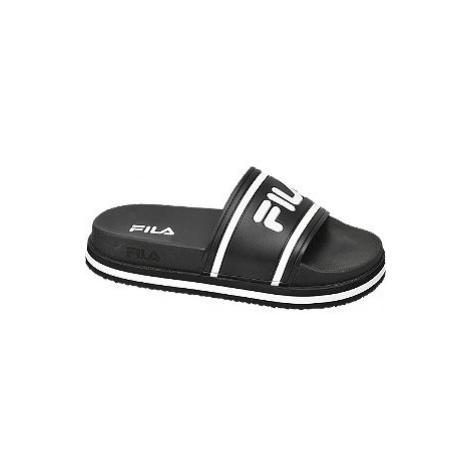 Černé plážové pantofle Fila