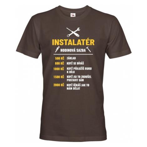 Pánské tričko - Hodinová sazba instalatér BezvaTriko