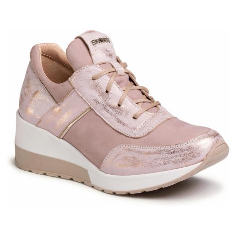 Sneakersy EKSBUT - 29-5702-F71/I68-1G Róż/Biały