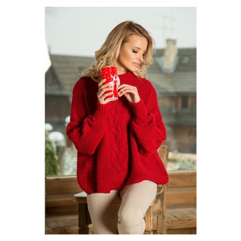 Červený pulovr F612 Fobya