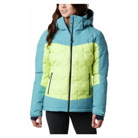 Bunda Columbia Wild Card™ Down Jacket W - modrá/zelená
