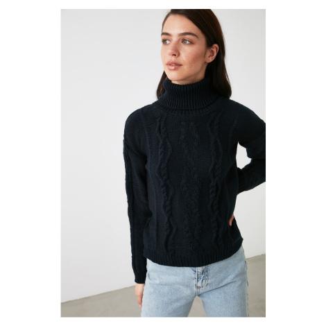 Trendyol Navy Blue Turtleneck Knitwear Sweater