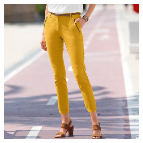 Blancheporte 7/8 kalhoty se zipy a kapsami medová