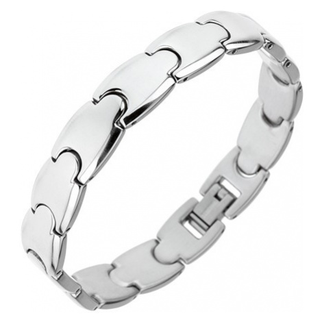 Ocelový náramek - lesklé hladké články Y, 10 mm Šperky eshop