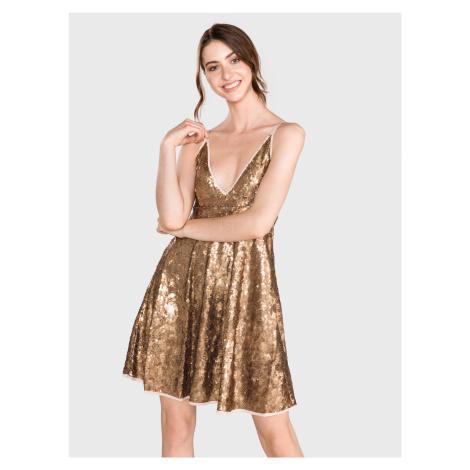 Šaty TWINSET Zlatá