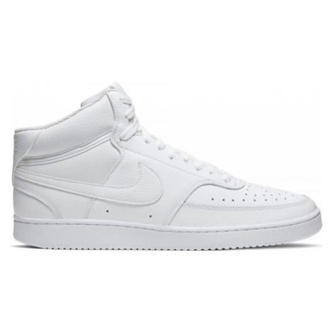 Nike COURT VISION MID bílá - Pánská kotníková obuv