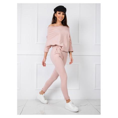 Light pink cotton jumpsuit