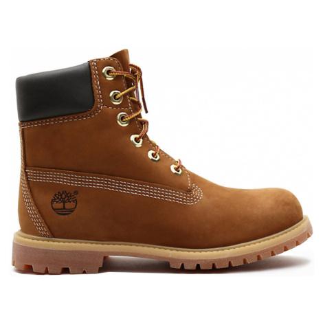 Timberland Premium 6-Inch Waterproof Boot Rust Nubuck hnědé 010360-214