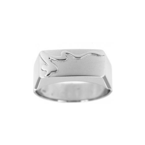 Pánský prsten z bílého zlata 099