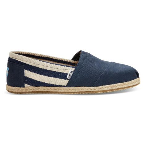 Navy Stripe Men's University Classics Toms