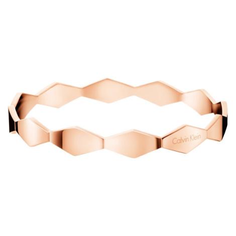 Calvin Klein Pevný růžově zlatý náramek Snake KJ5DPD1001 cm - M