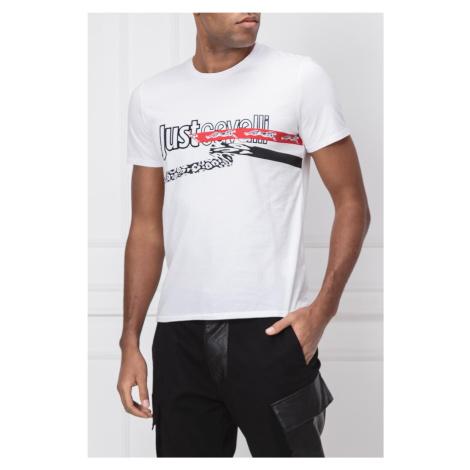 Pánské tričko s dvoubarevným nápisem Just Cavalli