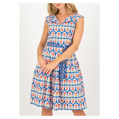 Elegantní šaty bez rukávů modré Blutsgeschwister Antje van Ameland