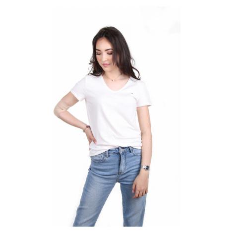 Tommy Hilfiger dámské smetanové tričko Jeana
